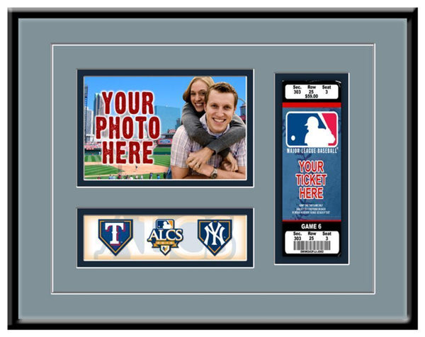 Major League Baseball-MLB 2010 ALCS New York Yankees vs Texas Rangers Ticket Frame-MLB-JadeMoghul Inc.