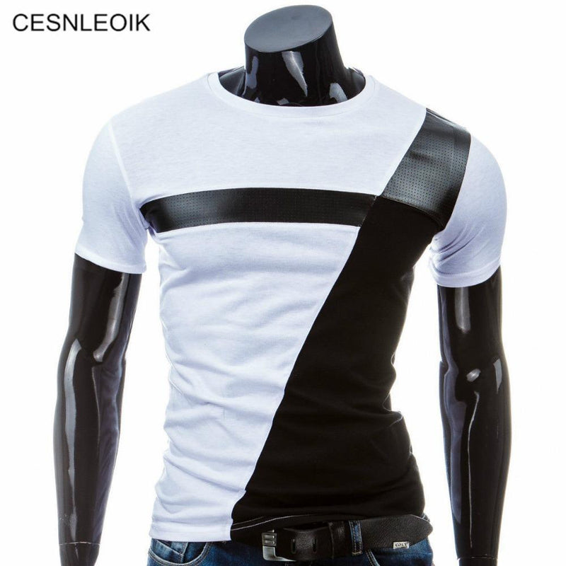Man Casual T-shirt Men Cotton T Shirt Military Mens T Shirts Fashion Tees T81-Black-M-JadeMoghul Inc.
