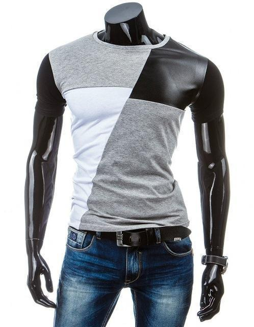 Man Casual T-shirt Men Cotton T Shirt Military Mens T Shirts Fashion Tees T81-Gray 1-M-JadeMoghul Inc.