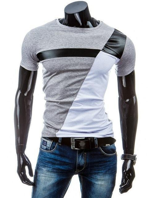 Man Casual T-shirt Men Cotton T Shirt Military Mens T Shirts Fashion Tees T81-Gray-M-JadeMoghul Inc.