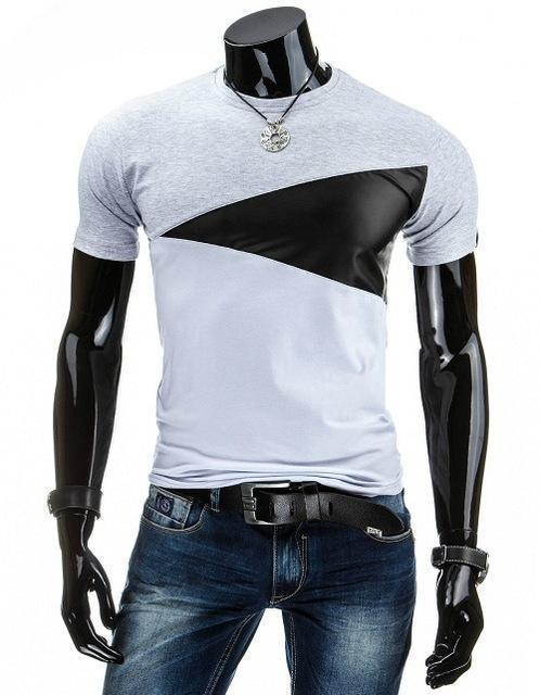 Man Casual T-shirt Men Cotton T Shirt Military Mens T Shirts Fashion Tees T81-Light Gray-M-JadeMoghul Inc.