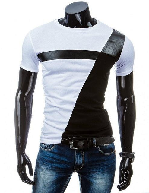 Man Casual T-shirt Men Cotton T Shirt Military Mens T Shirts Fashion Tees T81-White 2-M-JadeMoghul Inc.