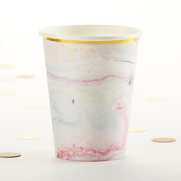 Marbleized Paper Cups (Set of 8)-Wedding Reception Decorations-JadeMoghul Inc.