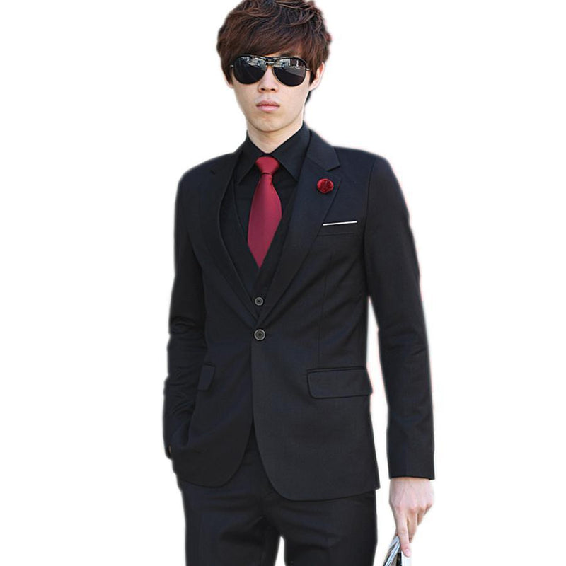 Men 3-pieces Slim Fit Suit-2 violet-S-JadeMoghul Inc.