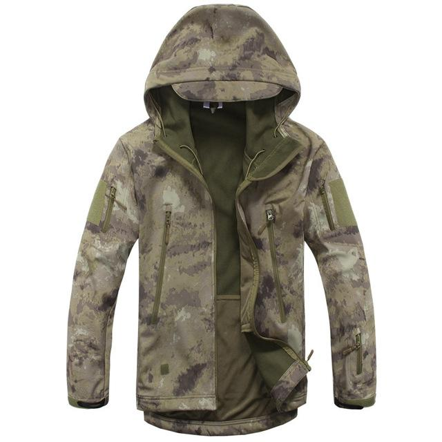 Men Army Camouflage Military Tactical Jackets / Waterproof Windbreaker Raincoat-ATAS-S-China-JadeMoghul Inc.