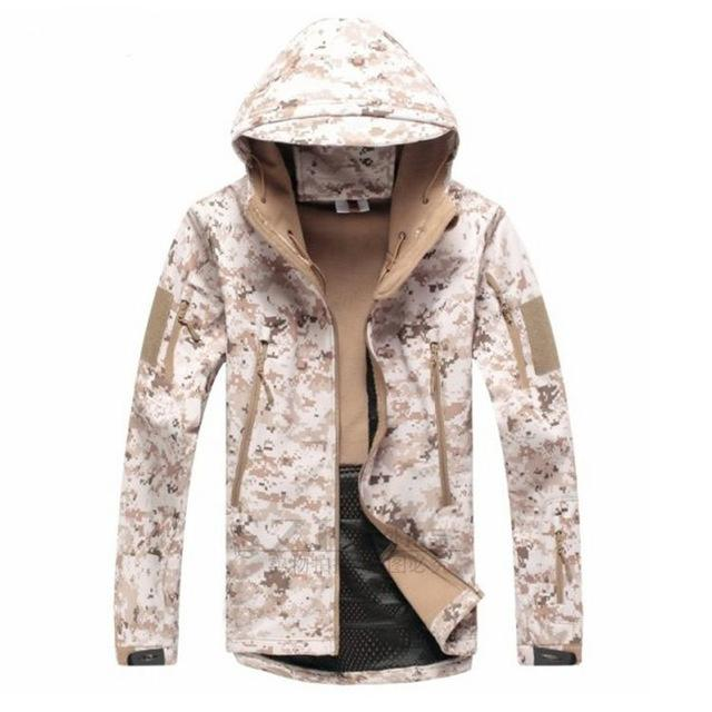 Men Army Camouflage Military Tactical Jackets / Waterproof Windbreaker Raincoat-Desert-S-China-JadeMoghul Inc.