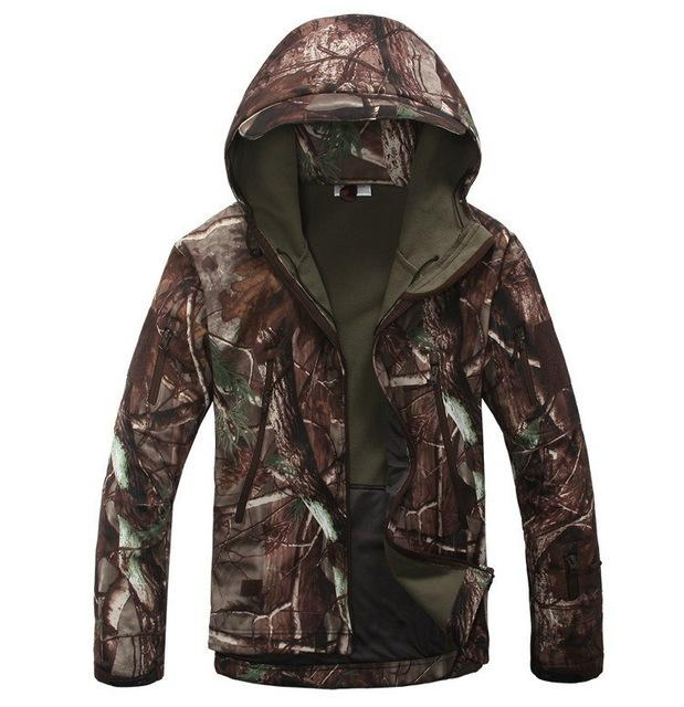 Men Army Camouflage Military Tactical Jackets / Waterproof Windbreaker Raincoat-Tree-S-China-JadeMoghul Inc.