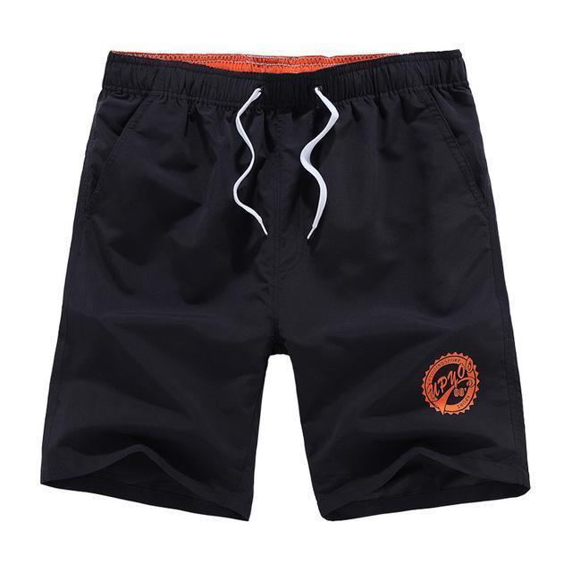 Men Beach Shorts / Quick Drying Summer Style Solid Polyester Clothing-black O-L-JadeMoghul Inc.