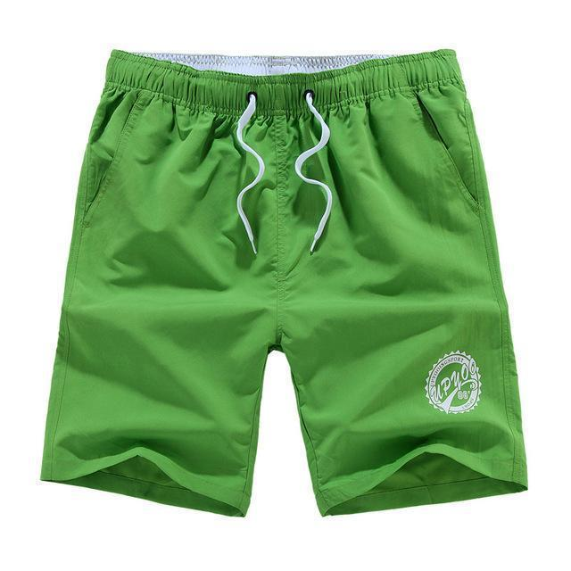 Men Beach Shorts / Quick Drying Summer Style Solid Polyester Clothing-green O-L-JadeMoghul Inc.