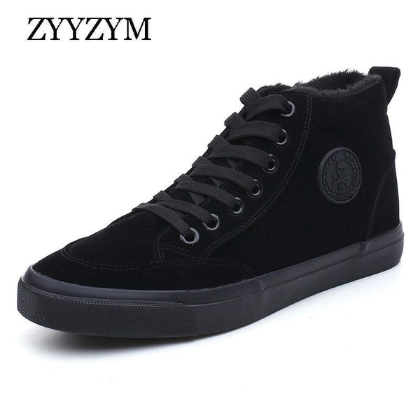 Men Boots Winter Fashion High Cotton Shoes Plush Keep Warm Brand Man Snow Boots Footwear New 2018 Hot Sales-Black-6-JadeMoghul Inc.