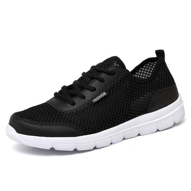 Men Breathable Casual Shoes / Lace Up High Quality Shoes-Black-4.5-JadeMoghul Inc.