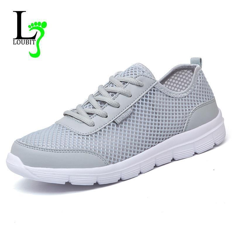 Men Breathable Casual Shoes / Lace Up High Quality Shoes-Gray-6-JadeMoghul Inc.