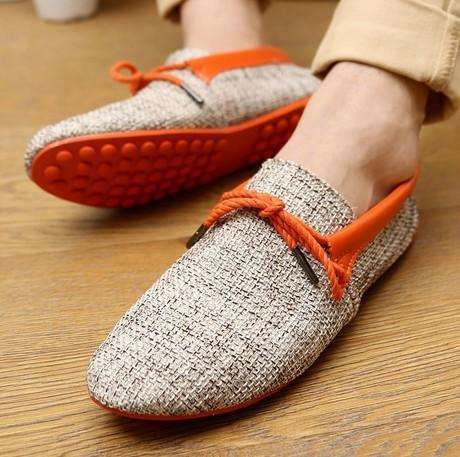 Men Breathable Fashion Weaving Casual Shoes-Orange Casual Shoes-6.5-JadeMoghul Inc.