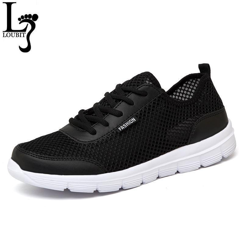 Men Breathable Lace up / Light Comfort Light Weight Flats-Black-4.5-JadeMoghul Inc.