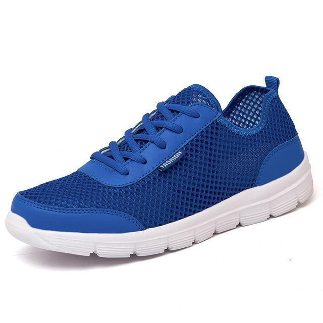 Men Breathable Lace up / Light Comfort Light Weight Flats-Blue-4.5-JadeMoghul Inc.