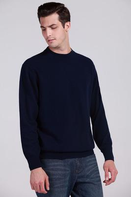 Men Cashmere Blend Long Sleeve Pullover / Soft Warm Knitwear-navy blue-S-JadeMoghul Inc.