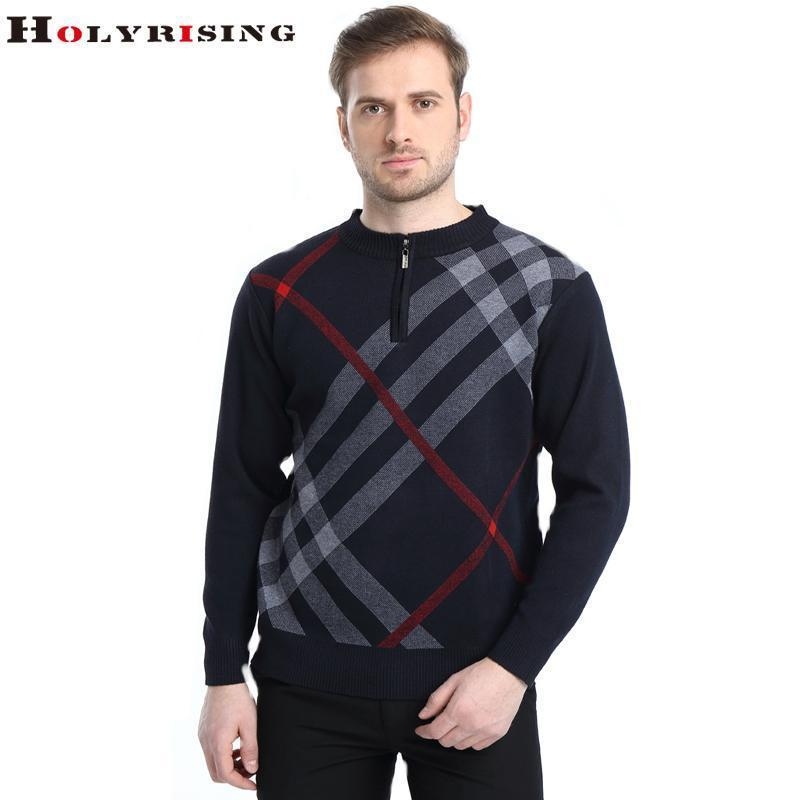 Men Casual High Quality Winter Pullover-black gray-M-JadeMoghul Inc.