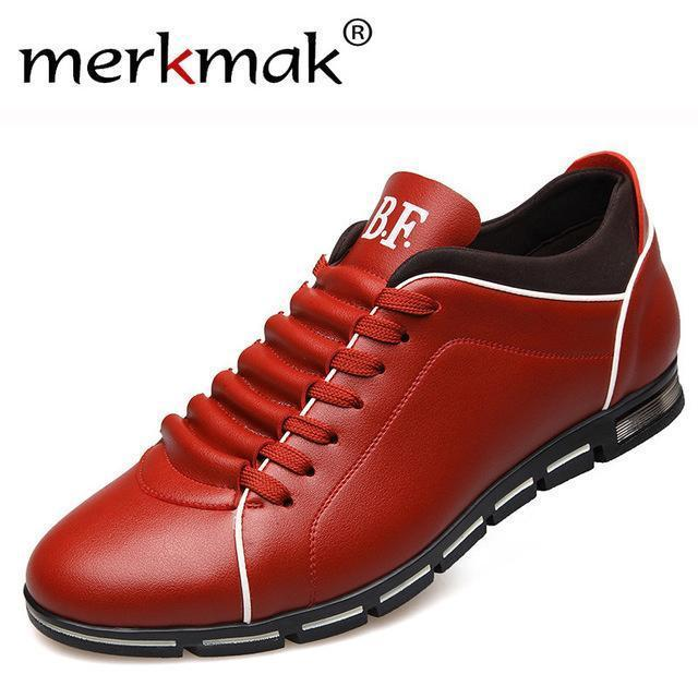 Men Casual Shoes / Fashionable Leather Flats-Wine Casual Shoes-6-JadeMoghul Inc.