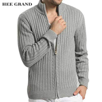 Men Casual Style Sweater With Stand Collar / Slim Fit Cardigan-JadeMoghul Inc.
