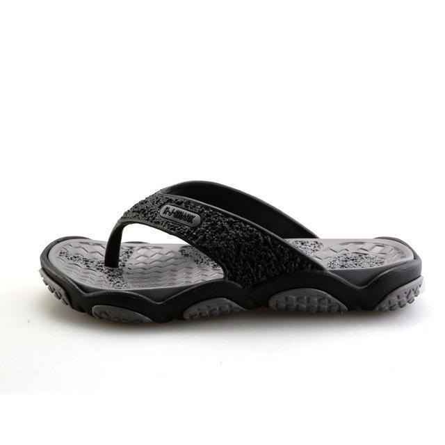 Men Casual Summer Slippers / Leisure Rubber Platform Sandals-Gray-7.5-JadeMoghul Inc.