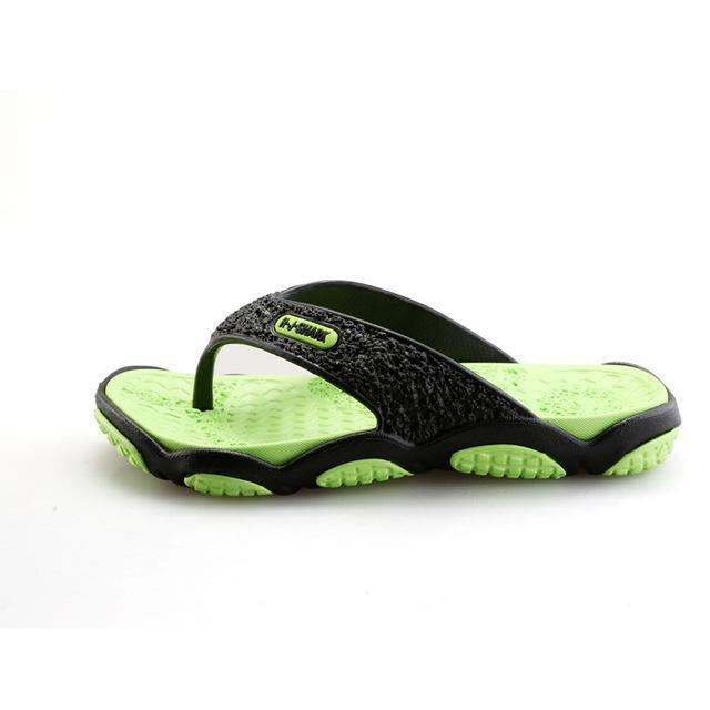 Men Casual Summer Slippers / Leisure Rubber Platform Sandals-Green-7.5-JadeMoghul Inc.