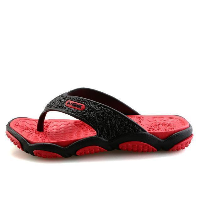 Men Casual Summer Slippers / Leisure Rubber Platform Sandals-Red-7.5-JadeMoghul Inc.