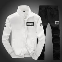 Men Clothing Suit Set / Casual Sweatshirts & Pant-White-M-JadeMoghul Inc.