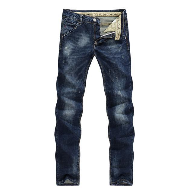 Men Dark Blue Casual Denim Jeans / Cowboy Style Jeans-Blue-28-JadeMoghul Inc.