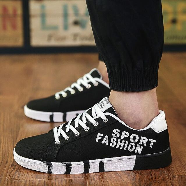 Men Fashion Canvas Shoes / Lace Up Outdoor Casual Shoes-Style 15-10-JadeMoghul Inc.