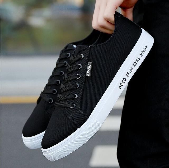Men Fashion Canvas Shoes / Lace Up Outdoor Casual Shoes-Style 25-10-JadeMoghul Inc.
