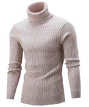 Men Hi-Neck Smart Fit Sweater / High Collar Solid Simple Slim Fit Knitted Sweaters-Mi se-M-JadeMoghul Inc.