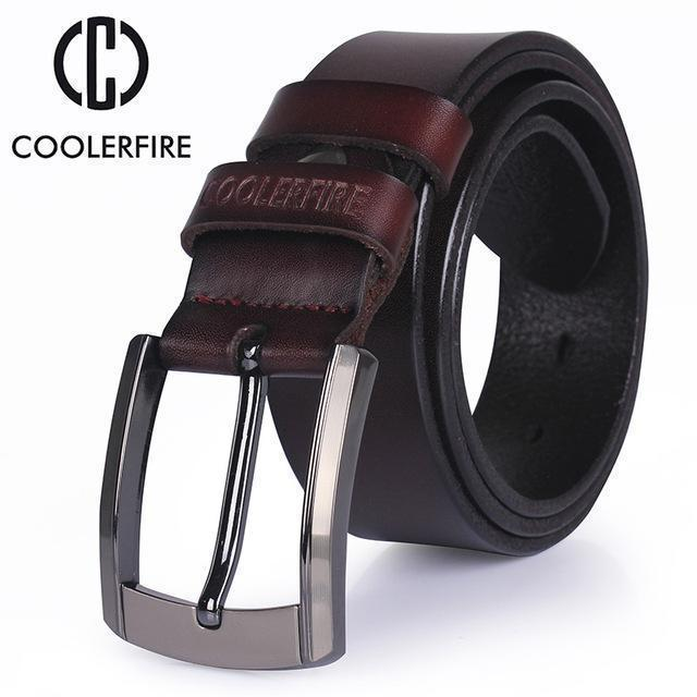 men high quality genuine leather belt luxury designer belts men cowskin fashion Strap male Jeans for man cowboy free shipping-COFFEE-100cm-JadeMoghul Inc.