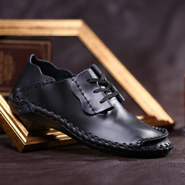 Men Leather Shoes / Casual Breathable Big Size Mens Shoes-Black Casual Shoes-11-JadeMoghul Inc.