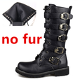 Men Military Leather Combat Metal Buckle Boots-black1-5-JadeMoghul Inc.