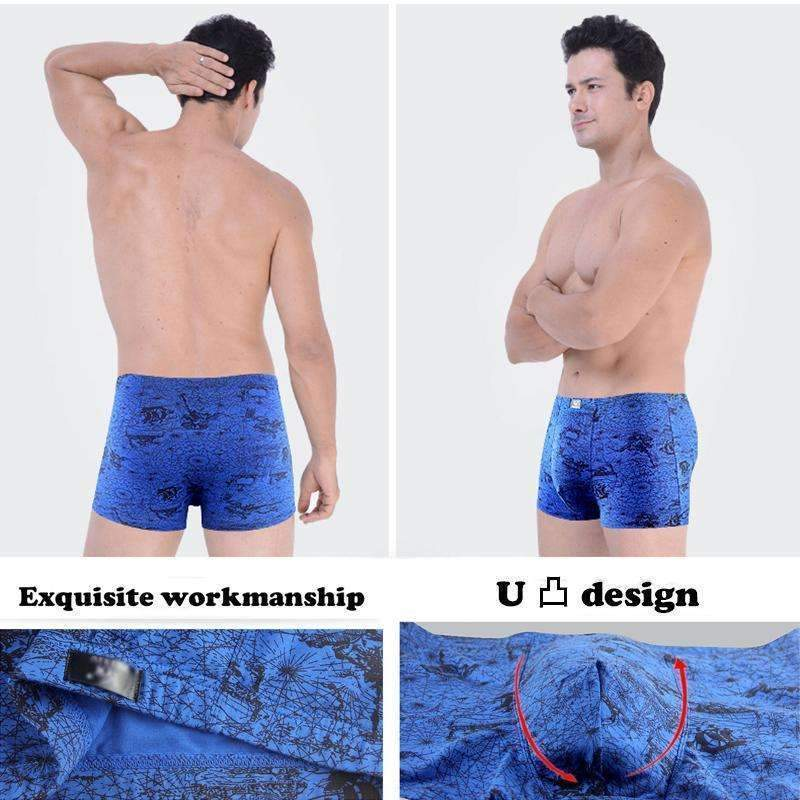 Men Modal Cotton Boxers Male Panties Shorts Mens Trunks Pouch Boxer Sexy Gay Slip Underpants 4Pcs\lot-3004A-L-JadeMoghul Inc.