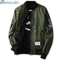 Men Pilot Jacket With Patches Both Sides / Thin Pilot Bomber Jacket-JadeMoghul Inc.
