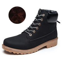 Men PU Leather Stylish Work Shoes-black Plush-11-JadeMoghul Inc.