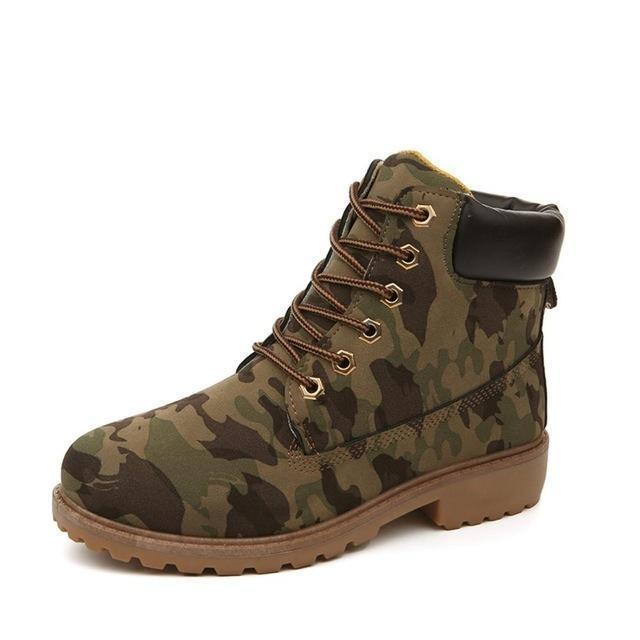Men PU Leather Stylish Work Shoes-camouflage-4.5-JadeMoghul Inc.