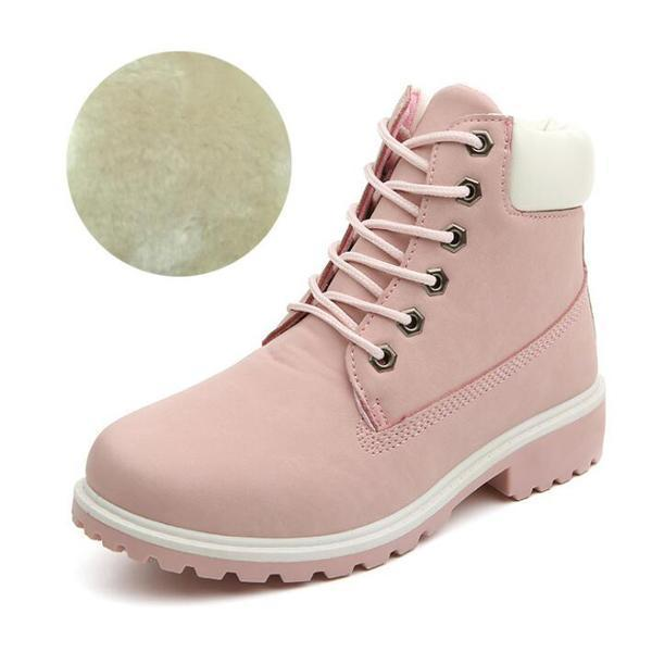 Men PU Leather Stylish Work Shoes-pink Plush-11-JadeMoghul Inc.