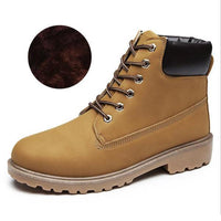 Men PU Leather Stylish Work Shoes-yellow Plush-11-JadeMoghul Inc.