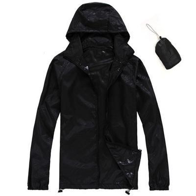 Men Quick Dry Skin Jacket / Ultra-Light Casual Windbreaker / Waterproof Clothing-Black-XS-JadeMoghul Inc.