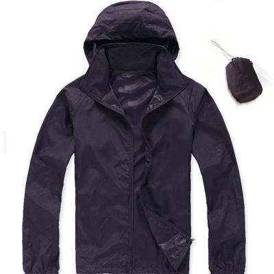 Men Quick Dry Skin Jacket / Ultra-Light Casual Windbreaker / Waterproof Clothing-Dark Purple-XS-JadeMoghul Inc.