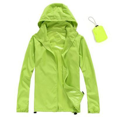 Men Quick Dry Skin Jacket / Ultra-Light Casual Windbreaker / Waterproof Clothing-Fruit Green-XS-JadeMoghul Inc.