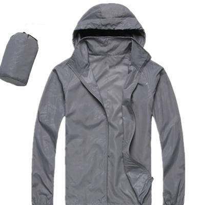 Men Quick Dry Skin Jacket / Ultra-Light Casual Windbreaker / Waterproof Clothing-Light Grey-XS-JadeMoghul Inc.