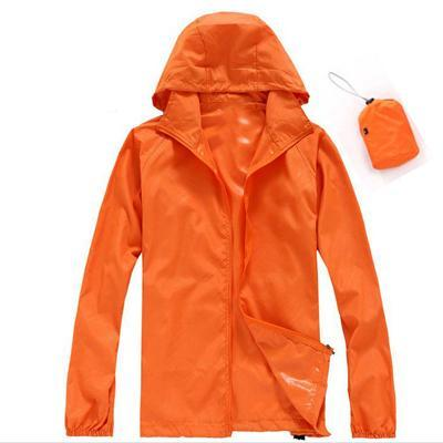 Men Quick Dry Skin Jacket / Ultra-Light Casual Windbreaker / Waterproof Clothing-Orange-XS-JadeMoghul Inc.
