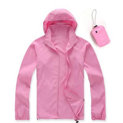 Men Quick Dry Skin Jacket / Ultra-Light Casual Windbreaker / Waterproof Clothing-Pink-XS-JadeMoghul Inc.
