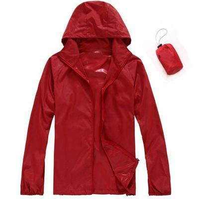 Men Quick Dry Skin Jacket / Ultra-Light Casual Windbreaker / Waterproof Clothing-Red-XS-JadeMoghul Inc.