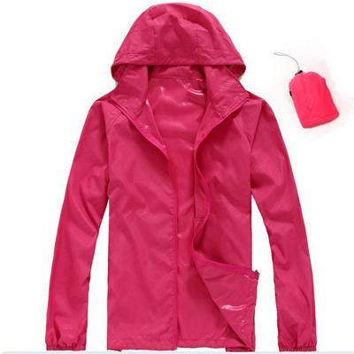 Men Quick Dry Skin Jacket / Ultra-Light Casual Windbreaker / Waterproof Clothing-Rose-XS-JadeMoghul Inc.