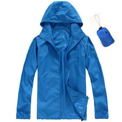 Men Quick Dry Skin Jacket / Ultra-Light Casual Windbreaker / Waterproof Clothing-Royal Blue-XS-JadeMoghul Inc.