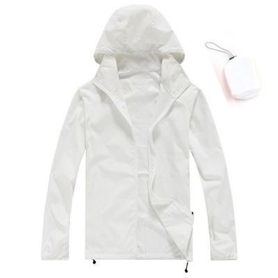 Men Quick Dry Skin Jacket / Ultra-Light Casual Windbreaker / Waterproof Clothing-White-XS-JadeMoghul Inc.